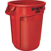 Rubbermaid Brute® 2632 Trash Container w/Venting Channels, 32 Gallon - Red