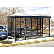 Smoking Shelter Dome Roof Four Sided With Left And Right Front Opening 15'X 5'