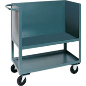 Jamco Elevated Deck Box Truck BC236 3 Enclosed Solid Steel Sides 36x24