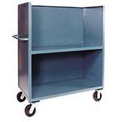 Jamco Package Truck FB248 3 Enclosed Sides & Middle Shelf 48x24 2400 Lb. Cap.