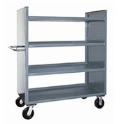 Jamco Package Truck DD242 with 4 Shelves 42 x 24 2400 Lb. Capacity