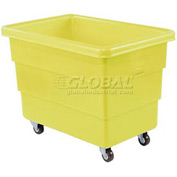 Dandux Yellow Plastic Box Truck 51126010Y-3S 10 Bushel Medium Duty