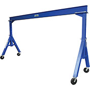 Vestil Steel Gantry Crane AHS-2-15-12 Adjustable Height 2000 Lb. Capacity