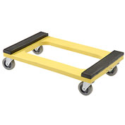 "Plastic Dolly with Rubber Padded Deck - 4"" Casters 1000 Lb. Capacity"
