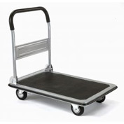 "Folding Platform Truck with 35 x 23 Solid Steel Deck 5"" Rubber Wheels 600 Lb. Capacity"