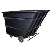Bayhead Products Black Heavy Duty 3 Cubic Yard Tilt Truck 2800 Lb. Capacity