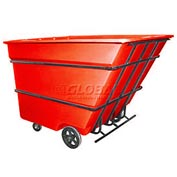 Bayhead Products Red Heavy Duty 3 Cubic Yard Tilt Truck 2800 Lb. Capacity