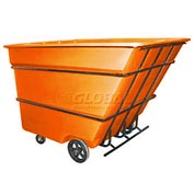 Bayhead Products Orange Heavy Duty 3 Cubic Yard Tilt Truck 2800 Lb. Capacity