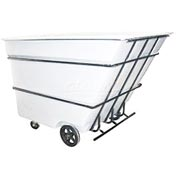 Bayhead Products White Heavy Duty 3 Cubic Yard Tilt Truck 2800 Lb. Capacity