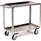 Jamco Stainless Steel Stock Cart XB248 2 Shelves Flush Top Shelf 48x24