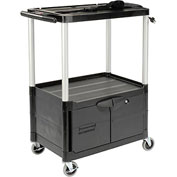 Rubbermaid Audio Visual Cart 33 x 19 x 42 With Locking Cabinet