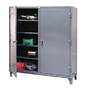 Strong Hold® Heavy Duty Double Shift Storage Cabinet 46-DS-248 - 48x24x78
