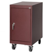 Sandusky Mobile Work Height Storage Cabinet TA11182430 Single Door - 18x24x36, Burgundy