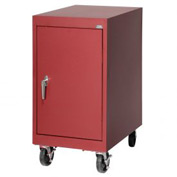 Sandusky Mobile Work Height Storage Cabinet TA11182430 Single Door - 18x24x36, Red