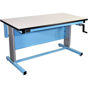 72 X 30 Plastic Top Ergo-Line Workbench- Blue