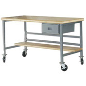 "Mobile 72"" X 36"" Shop Top Workbench - Gray"