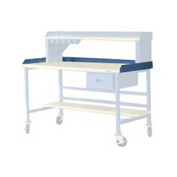 "72""W X 36""D Back & End Stops - Blue"
