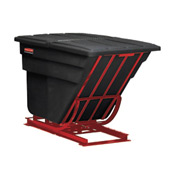 Rubbermaid® FG106900BLA 2 Cu. Yd. Self-Dumping Hopper with Forklift Base