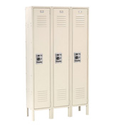 Infinity™ Locker Single Tier 12x18x72 3 Door Ready To Assemble Tan