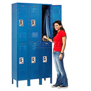 Infinity™ Locker Double Tier 12x18x36 6 Door Ready To Assemble Blue