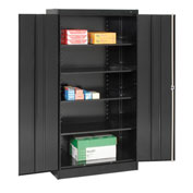 Tennsco Metal Storage Cabinet 1470 03 - 36x18x72 Black
