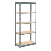 "Heavy Duty Shelving 36""W x 12""D x 96""H With 5 Shelves, Wood Deck"