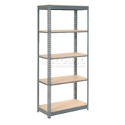 "Heavy Duty Shelving 36""W x 24""D x 96""H With 5 Shelves, Wood Deck"