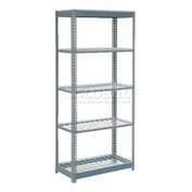 "Heavy Duty Shelving 36""W x 24""D x 60""H With 5 Shelves, Wire Deck"