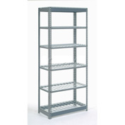 "Heavy Duty Shelving 36""W x 12""D x 60""H With 6 Shelves, Wire Deck"