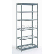 "Heavy Duty Shelving 36""W x 24""D x 60""H With 6 Shelves, Wire Deck"