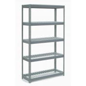 "Extra Heavy Duty Shelving 48""W x 12""D x 60""H With 5 Shelves, Wire Deck"
