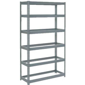 "Extra Heavy Duty Shelving 48""W x 12""D x 84""H With 6 Shelves, No Deck"