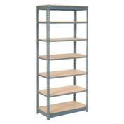 "Heavy Duty Shelving 48""W x 12""D x 84""H With 7 Shelves, Wood Deck"