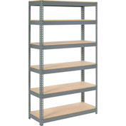 "Extra Heavy Duty Shelving 48""W x 12""D x 84""H With 6 Shelves, Wood Deck"
