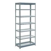 "Heavy Duty Shelving 36""W x 12""D x 84""H With 7 Shelves, Wire Deck"