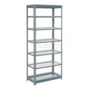 "Heavy Duty Shelving 36""W x 18""D x 84""H With 7 Shelves, Wire Deck"
