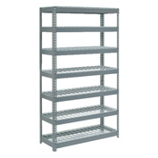 """Extra Heavy Duty Shelving 48""""W x 12""""D x 84""""H With 7 Shelves, Wire Deck"""
