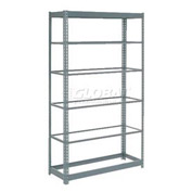 "Heavy Duty Shelving 48""W x 12""D x 96""H With 6 Shelves, No Deck"