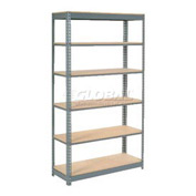 "Heavy Duty Shelving 48""W x 24""D x 96""H With 6 Shelves, Wood Deck"