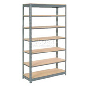 "Heavy Duty Shelving 48""W x 24""D x 96""H With 7 Shelves, Wood Deck"