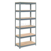 "Extra Heavy Duty Shelving 36""W x 24""D x 96""H With 6 Shelves, Wood Deck"
