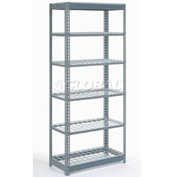 "Heavy Duty Shelving 48""W x 18""D x 96""H With 6 Shelves, Wire Deck"