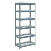 "Extra Heavy Duty Shelving 36""W x 18""D x 96""H With 6 Shelves, Wire Deck"