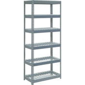 "Extra Heavy Duty Shelving 36""W x 24""D x 96""H With 6 Shelves, Wire Deck"