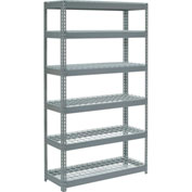"Extra Heavy Duty Shelving 48""W x 12""D x 96""H With 6 Shelves, Wire Deck"