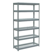 "Extra Heavy Duty Shelving 48""W x 24""D x 96""H With 6 Shelves, Wire Deck"