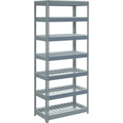 "Extra Heavy Duty Shelving 36""W x 24""D x 96""H With 7 Shelves, Wire Deck"