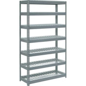 "Extra Heavy Duty Shelving 48""W x 24""D x 96""H With 7 Shelves, Wire Deck"