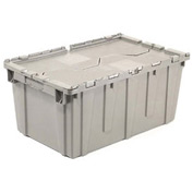 Plastic Storage Container - Attached Lid DC2213-12 22-3/8 x 13 x 13 Gray
