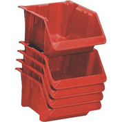 "LEWISBins Fiberglass Hopper Bin SH1811-7 Stack And Nest 18""L x 11-1/2""W x 8""H Red - Pkg Qty 5"